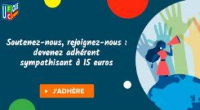 Adhésion sympathisant à 15 euros